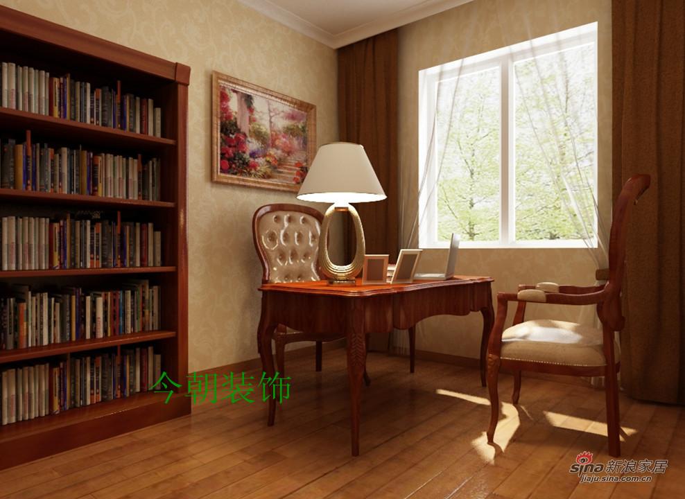 欧式 四居 书房图片来自用户2746953981在简欧的家舒适的家52的分享