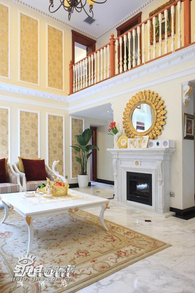 欧式 别墅 客厅图片来自用户2557013183在达观别墅13的分享