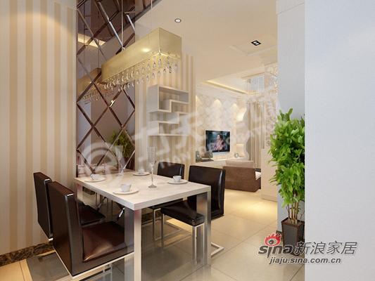 简约 二居 餐厅图片来自阳光力天装饰在时尚现代简约两居80的分享