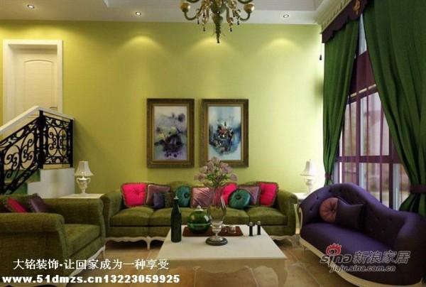 美式乡村风格家庭装修设计-客厅设计效果图