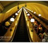 莫斯科爆炸前的奢华地铁内部