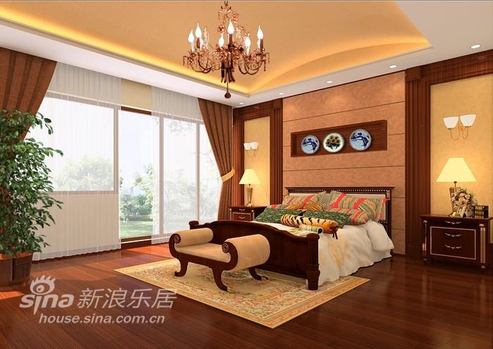 中式 别墅 卧室图片来自用户2737751153在中式韵味别墅15的分享