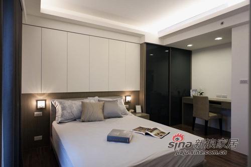 简约 三居 卧室图片来自用户2738093703在6万质感时尚大3居43的分享