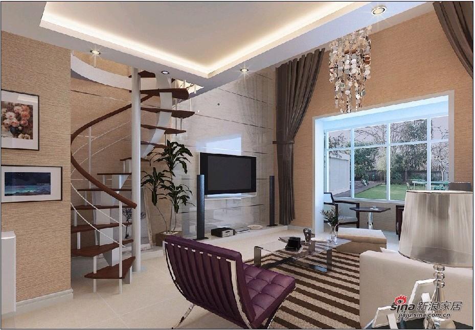 简约 loft 客厅图片来自用户2739378857在8万装122平舒适LOFT三居69的分享