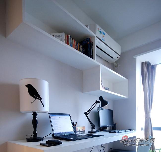 简约 二居 书房图片来自装修微日记在【高清】10万装96平随性自然简约家12的分享