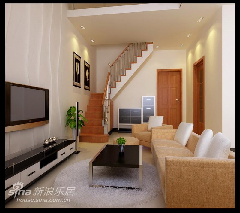 简约 复式 客厅图片来自用户2557010253在LOFT梦想 6万元装出的宜居甜蜜小复式71的分享
