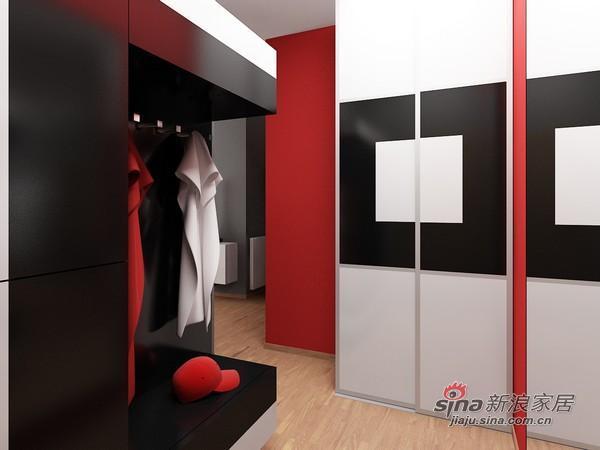 简约 二居 客厅图片来自用户2739081033在黑白红三色经典现代简约风格公寓33的分享