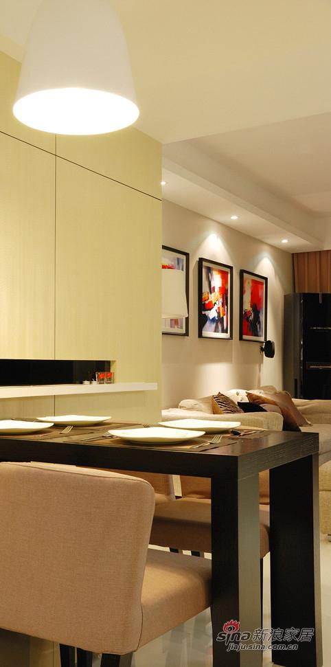 现代 二居 餐厅图片来自装修微日记在【高清】新婚夫妻90平现代暖色调两居18的分享