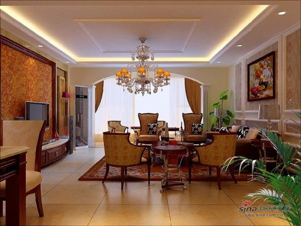 欧式 三居 客厅图片来自用户2557013183在8万装出135平简约纯朴舒适欧式生活84的分享