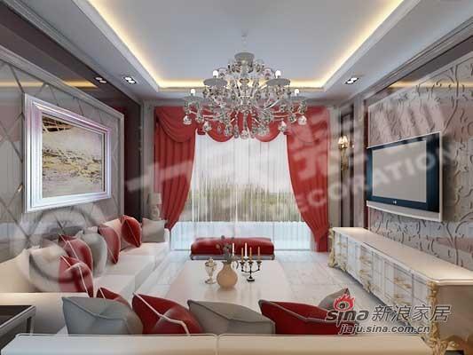 欧式 二居 客厅图片来自阳光力天装饰在94平华丽欧式风两居61的分享