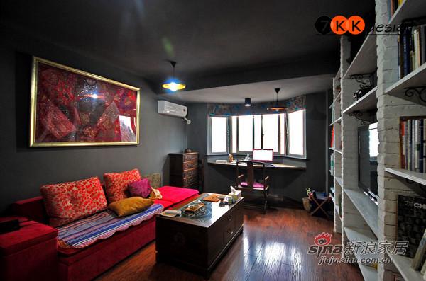混搭 二居 客厅图片来自用户1907655435在冷灰瑰红打造72平极简loft32的分享