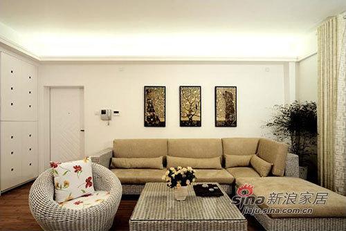 简约 三居 客厅图片来自用户2738093703在力求120平米空间设计的内敛,灰色主调风格90的分享