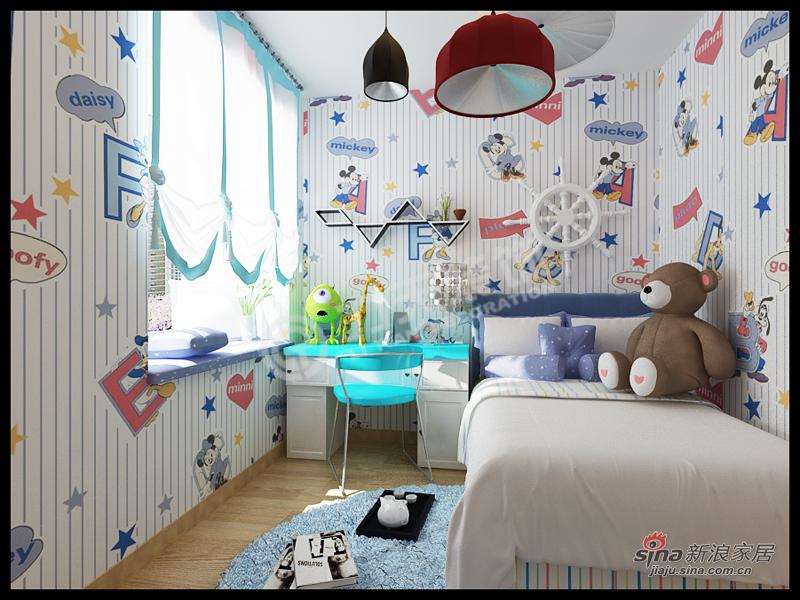 简约 二居 儿童房图片来自阳光力天装饰在金隅悦城-两室两厅一厨一卫-现代简约62的分享