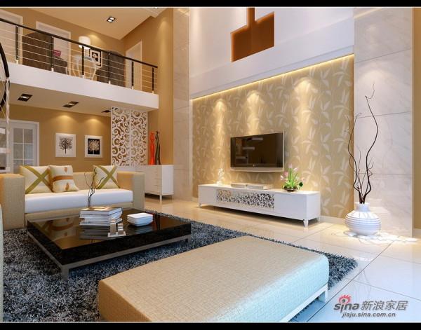 一楼客厅电视背景墙设计