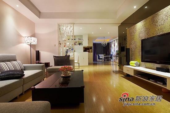 简约 二居 客厅图片来自用户2559456651在6.8万打造98平两室一厅一温馨家76的分享