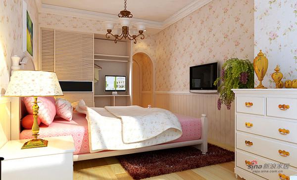 100平两居室美式田园风格的美
