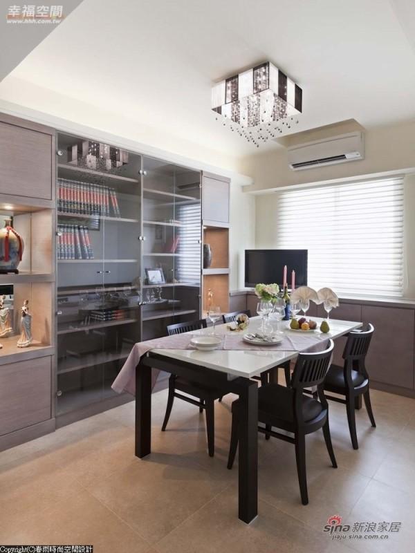满足业主期待,设计师将餐厅与书房空间结合