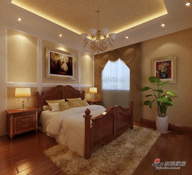 欧式 三居 卧室图片来自用户2757317061在8.2万铸造简约欧式135平爱家56的分享