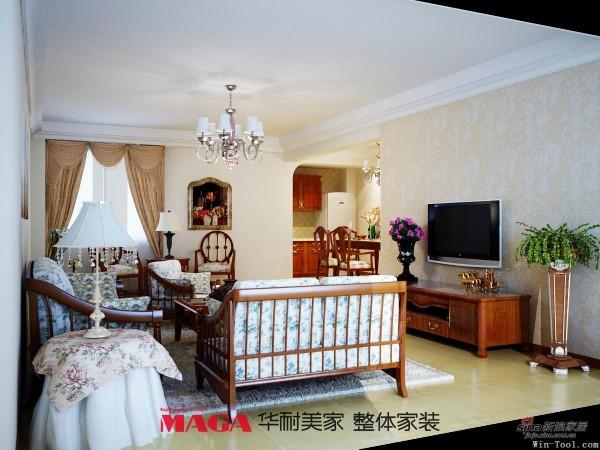 田园 三居 客厅图片来自用户2557006183在温馨浪漫的美式乡村风格66的分享
