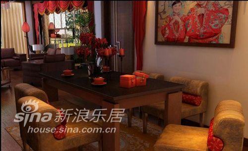 中式 二居 餐厅图片来自用户2740483635在浪漫中国红75的分享
