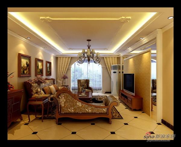 欧式 三居 客厅图片来自用户2746953981在120平古典欧式风格旧房改造40的分享