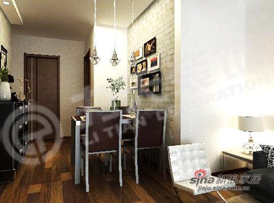 简约 二居 餐厅图片来自阳光力天装饰在75平米时尚两居室98的分享