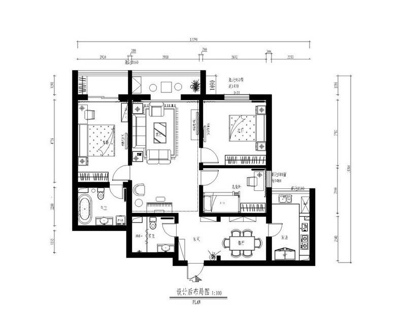 简约 三居 客厅图片来自用户2738813661在三室两厅现代简约风格新家94的分享