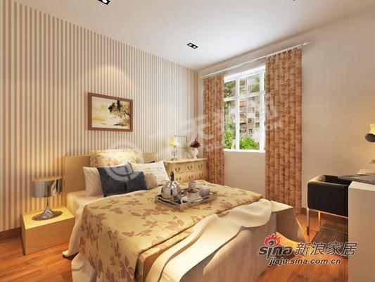 简约 二居 卧室图片来自阳光力天装饰在华城佳苑B户型简约两居84的分享