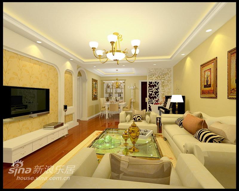 欧式 三居 客厅图片来自用户2772856065在95平现代欧式温馨舒适四口之家97的分享