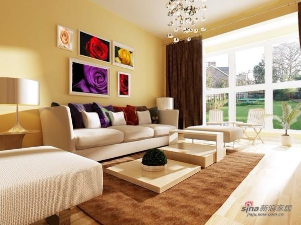 整体温暖和谐的客厅