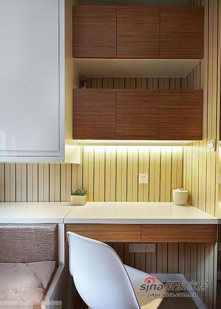 现代 三居 书房图片来自佰辰生活装饰在9万打造110平质感元素三居室36的分享