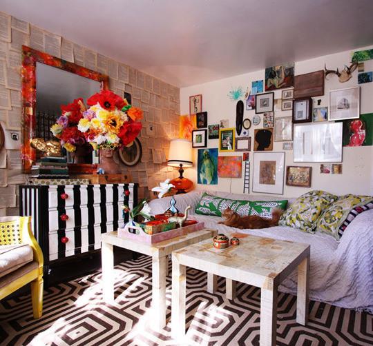 客厅 照片墙图片来自用户2771736967在屌丝变文艺 11款极具文艺时尚气息的客厅的分享