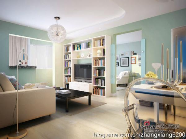 简约 二居 客厅图片来自用户2738813661在5.4万打造105平雅致两居68的分享