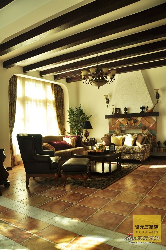 欧式 别墅 客厅图片来自用户2772873991在【多图】远洋傲北380平米欧式风格设计97的分享