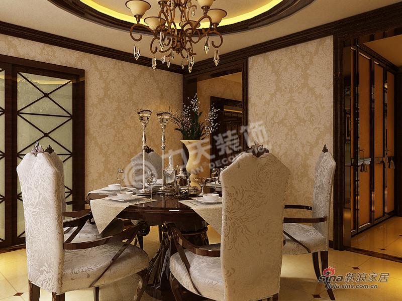 欧式 三居 餐厅图片来自阳光力天装饰在金融街中心-三室三厅三卫-简欧风格34的分享