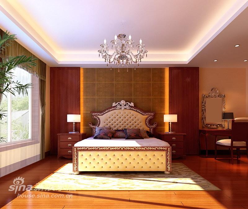 欧式 三居 卧室图片来自用户2746889121在错落有致复古妖娆欧式混搭33的分享