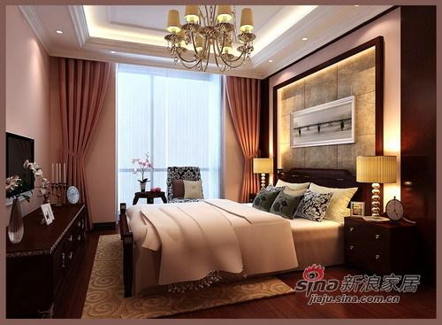 简约 三居 卧室图片来自用户2738829145在9万营造现代时尚136平三居28的分享