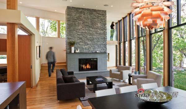 简约 别墅 客厅图片来自用户2739378857在28图详解国外开放式客厅设计295的分享