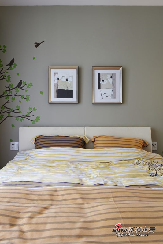 简约 三居 卧室图片来自用户2738820801在5.5万装98平三居时尚美家49的分享