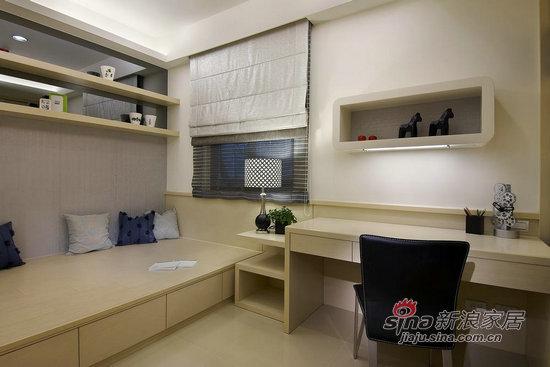 简约 二居 书房图片来自用户2559456651在5.6万装饰100平时尚黑白两居11的分享