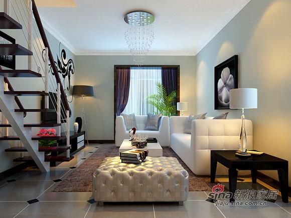 简约 loft 客厅图片来自用户2737782783在5万装玲珑雅致的80㎡简约LOFT27的分享