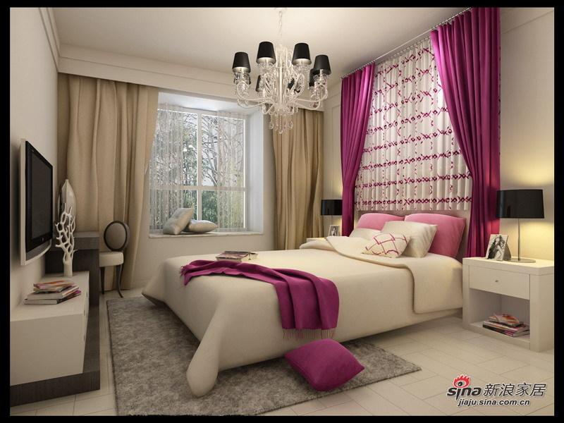 简约 二居 卧室图片来自用户2745807237在4.5万装修北空宿舍93㎡简约2居室22的分享