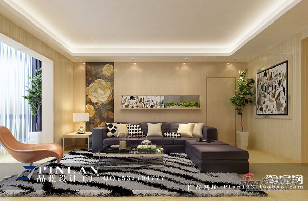 简约 四居 客厅图片来自用户2739378857在【高清】16万装149平锦绣华城现代简约99的分享