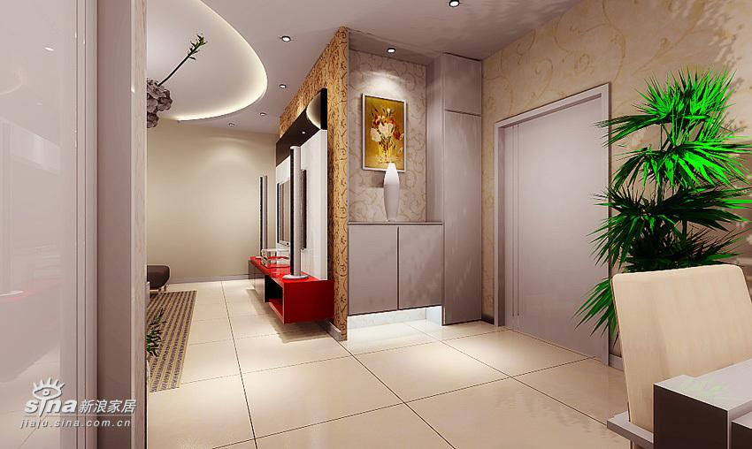 简约 二居 餐厅图片来自用户2745807237在高科技媲美实景 两室一厅3D设计40的分享