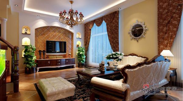 欧式风格案例-客厅
