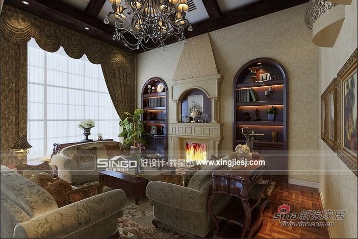 美式 别墅 客厅图片来自用户1907685403在打造休闲美式加州风格别墅72的分享