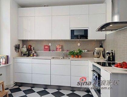北欧 二居 厨房图片来自用户1903515612在夫妻96平纳维亚风格三居室51的分享