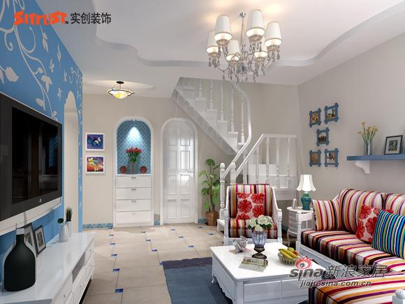 简约 三居 客厅图片来自用户2737782783在80后完美演绎草桥欣园简约地中海风格75的分享