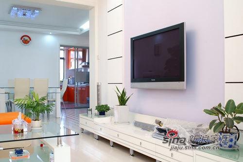 简约 二居 客厅图片来自用户2738829145在9万装简约白色两居44的分享