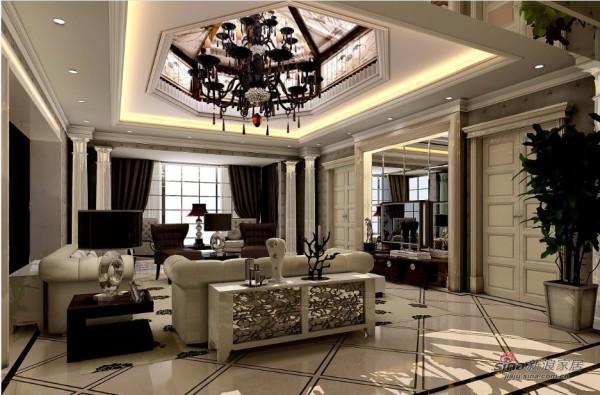 欧式古典风格的客厅